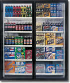 Commercial beverage coolers