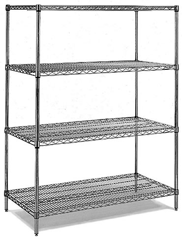 walk in cooler shelving